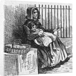 Woman with Child Begging by Corbis