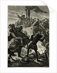 German Knights Fighting Italian Soldiers by Corbis
