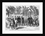 Engraving of Civil War Camp Punishment for Coward by Corbis