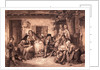 Family Huddled at Home by Corbis