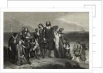 Pilgrims Arriving in New World by Corbis
