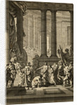 British Party Bowing to Emperor of Rome by Corbis