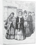 Drawing of Women Crusaders Marching in Street by Corbis