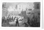 Drawing of French Revolution in City by Corbis
