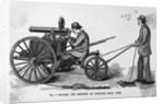 Gatling Gun Mounted on Carriage by Corbis