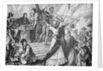 Drawing Depicting Recruiting Station for French Revolutionaries by Corbis