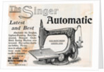 Advertisement for Singer Automatic Sewing Machine by Corbis