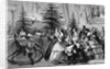 Victorian Family Gathering Around a Christmas Tree by Corbis