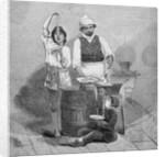 Maccaroni Vendor by Corbis
