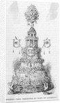 Drawing of Wedding Cake Print by Corbis