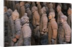 Terracotta Warrior Statues at Xian, China by Corbis