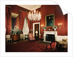Red Room of White House by Corbis
