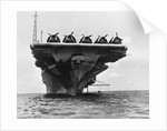 USS Hornet with Planes on Deck by Corbis