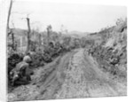 American Soldiers Kneeling on Side of Road in Okinawa by Corbis