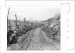 American Soldiers Kneeling on Side of Road in Okinawa by Corbis
