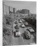 Aerial View of Car Traffic by Corbis