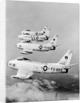 Flight of F-86 Sabrejets Guard the Philippines by Corbis