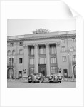Cars Parked in Front of a Hotel by Corbis