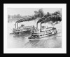 Aerial View of Steamboats Racing by Corbis