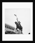 Sign on Statue of Joan of Arc at Plateaus Des Glieres by Corbis