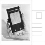 Transistor Radio and Miniature Transistors by Corbis