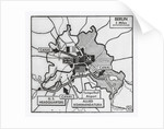 Map of Communist Water Blockade by Corbis