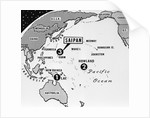 Map of Amelia Earhart's Path by Corbis