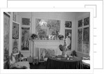 Library in Helena Rubinstein's Apartment by Corbis