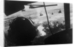 Bell UH-1 Huey Squadron Firing on Vietcong by Corbis