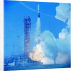 Atlas Agena Rocket Launching by Corbis
