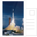 Rocket Taking off into Sky by Corbis