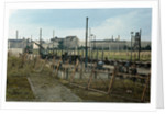 Soldiers Building Berlin Wall by Corbis