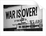 Billboard in Times Square, War is Over! by Corbis