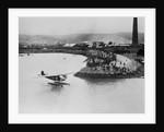 Amelia Earhart's Plane Leaving Port by Corbis