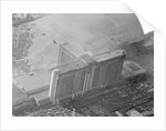 Aerial View of Building and Fire Scene by Corbis