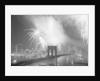 Fireworks over the Brooklyn Bridge by Corbis