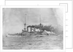 German Battleship Being Sunk by Corbis