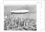 Hindenburg Flying over Lower Manhattan by Corbis