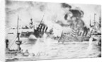 Illustration of Ship Being Sunk by Corbis