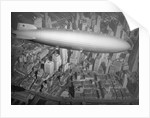 Hindenburg Flying over Manhattan by Corbis