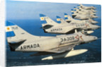 Argentine Super Etandard Planes in Flight 1982 by Corbis