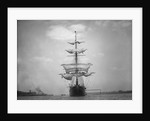 Frontal View of a Sailing Yacht by Corbis