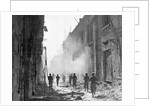 American Soldiers on War Torn Street of Messina by Corbis