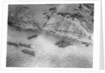 Aerial View of Military Ships by Corbis