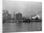 Tugboats in the New York Harbor by Corbis