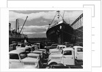 Ford Trucks at the Dock by Corbis