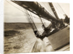 Bluenose Schooner Leaning to Port During Race by Corbis
