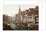 Boats and Residences Lining Waterway by Corbis