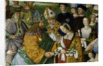 Detail of Fresco Painting of Frederick III's Betrothal to Eleonora of Portugal by Pinturicchio