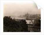 Aerial View of Budapest Along Danube River by Corbis